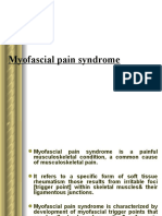 Myofascial Pain Syndrome and Trigger Point Treatment