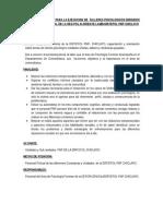 Plan de Charlas a Las Comisarias 2013