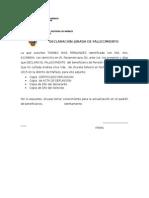 Declaracion Jurada de Fallecimiento Pension 65