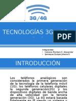 TECNOLOGÍAS 3G – 4G