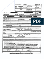 Incident report in the arrest of Timothy Foster