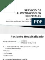 Alimentacion en Servicios Hospitalarios