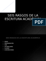 Seis Rasgos de La Escritura Academica.