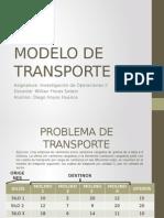 Modelo de Tranporte Aplicacion