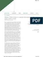 Heitor Villa-Lobos e o Ensino de Música No Brasil Entre 1930 e 1945 (NASCIMENTO, 2013)