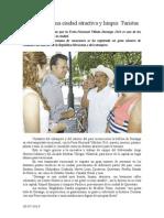 30.07.2014 Comunicado Durango Es Una Ciudad Atractiva y Limpia Turistas