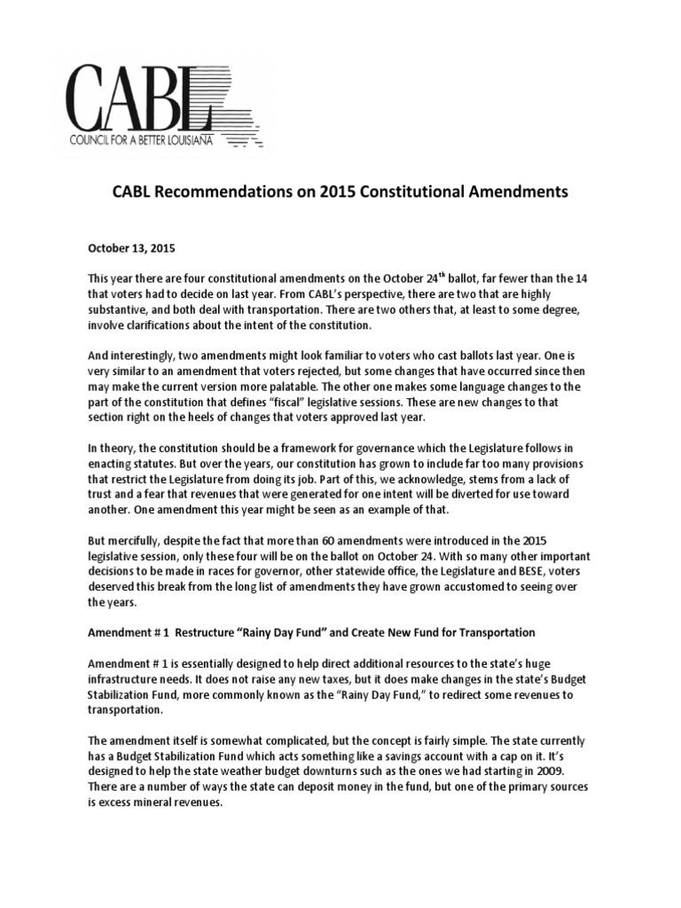 constitutional amendments 2015 cabl | constitutional amendment | taxes