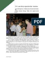 31.07.2014 Comunicado FENADU 2014, Una Feria Espectacular Turistas