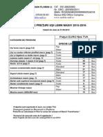 Listă de Preţuri Nett Fron Lemn Masiv 2016
