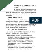 Temas Ineludibles en La Introduccion Al Derecho Laboral