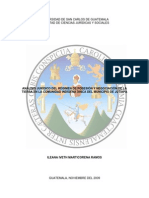 Regimen de Posesion y Negociación de La Tierra en La Comunidad Xinca de Jutiapa
