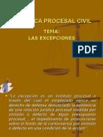Excepciones en la Postulacion Del Proceso