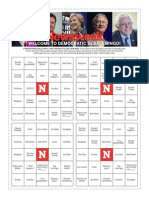 Newsweek Democratic Debate Bingo