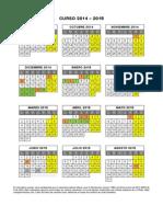 Calendario Escolar 2014 15