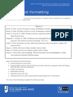 Reference List Formatting
