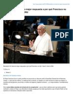 Benedicto XVI Tiene La Mejor Respuesta a Por Qué Francisco No Dijo Jesús Ante La ONU