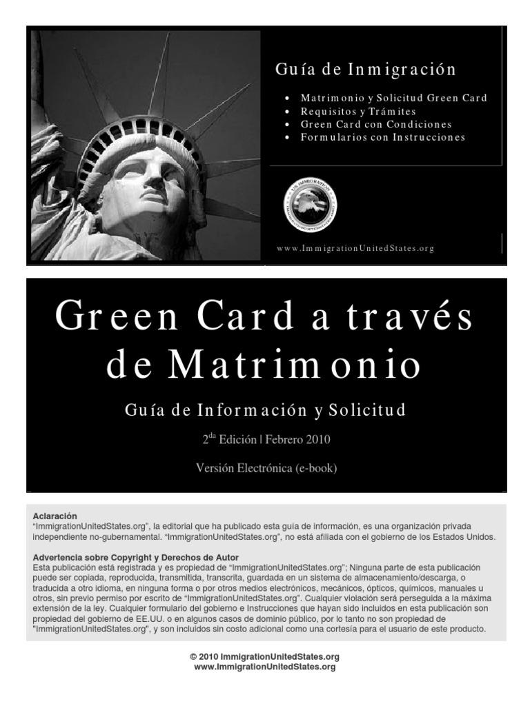 Greencard a Traves de Matrimonio