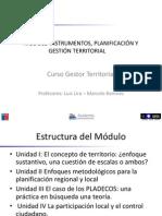 Modulo Instrumentos Planificación Territorial