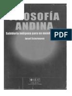 Filosofia Andina. Sabiduria Indigena Para Un Mundo Nuevo-Josef Estermann