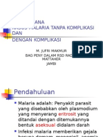 Tatalaksana Kasus Malaria (Dinkes Prop)