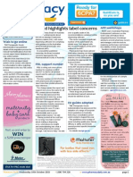 Pharmacy Daily for Wed 14 Oct 2015 - Board labelling warning, Guild customer feedback, PDL national support number, new products and much more