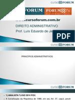 Prof. Luis Eduardo - Princípios Administrativos