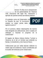 03 01 2011 Ceremonia por el décimo aniversario luctuoso del ex gobernador Marco Antonio Muñoz Turnbull