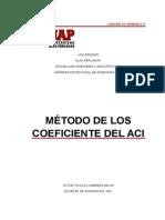 Método de Los Coeficiente Del Aci 18.06.15