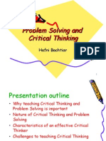 Problem Solving and Critical Thinking Eltecs