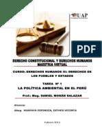 La Política Ambiental en El Perú