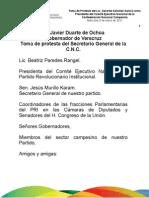 05 01 2011 Toma de Protesta del Lic. Gerardo Sánchez García como Presidente del Comité Ejecutivo Nacional de la Confederación Nacional Campesina