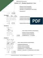 Lista 3 Equacoes 1 Grau