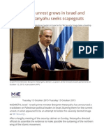 ANALYSIS as Unrest Grows in Israel and Palestine, Netanyahu Seeks Scapegoats