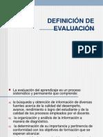 definicion de evaluacion