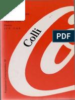 Colli, Giorgio - El Libro de Nuestra Crisis Ed. Paidos 1991