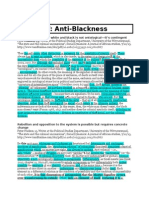 Antiblackness and Pan Answers - Northwestern 2015