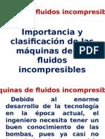 Clasificación de las máquinas de fluidos incompresibles