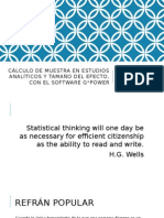 Cálculo de Muestra en Estudios Analíticos y Tamaño Del Efecto, Con El Software GPower