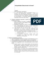 Tendências Da Desigualdade Educacional No Brasil