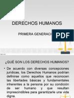 DERECHOS HUMANOS PRIMERA GENERACION