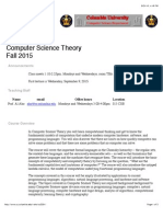 COMS W3261 Computer Science Theory