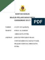 Kertas Kerja Majlis Pelancaran Ihya Ramadhan 2015