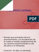 PUERPERIO NORMAL