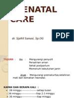 k8 - Antenatal Care - Dr. Sjafril Sanusi, Sp.og