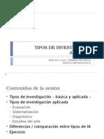 Tipos de Investigacion Aplicada