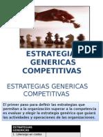 ESTRATEGIAS GENERICAS COMPETITIVAS
