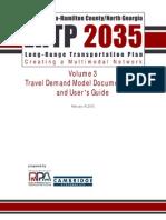 Volume 3 Travel Demand Model Documentation and User's Guide