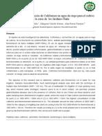Cuantificación de Coliformes en agua de riego para el cultivo en la zona de  los Jardines-Ñaña ( Perú)