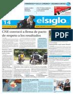 Edición Impresa El Siglo 14-10-2015