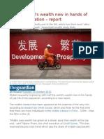 Half of World's Wealth Now in Hands of 1% of Population – Report